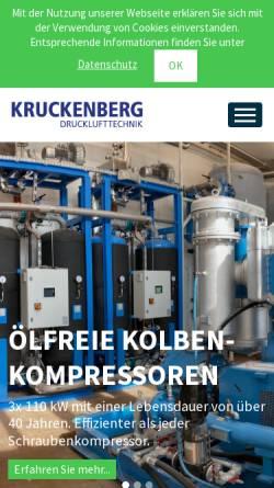 Vorschau der mobilen Webseite www.kruckenberg-druckluft.de, Kruckenberg Drucklufttechnik GmbH