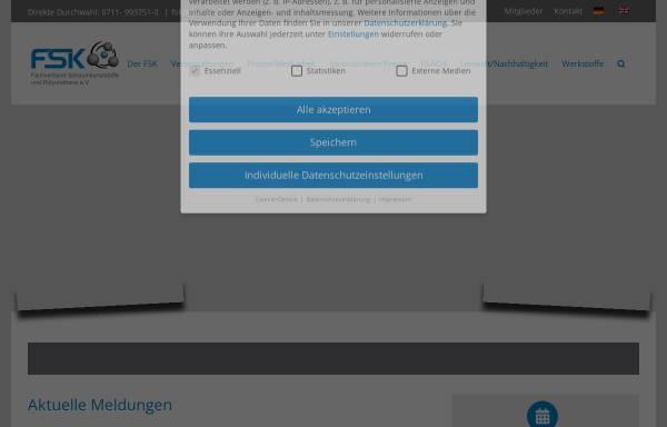 Vorschau von www.fsk-vsv.de, FSK - Fachverband Schaumkunststoffe e.V.