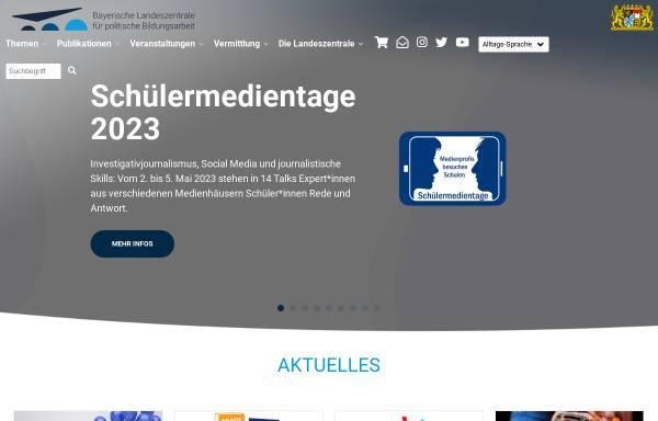 Vorschau von www.blz.bayern.de, Bayerische Landeszentrale für politische Bildungsarbeit