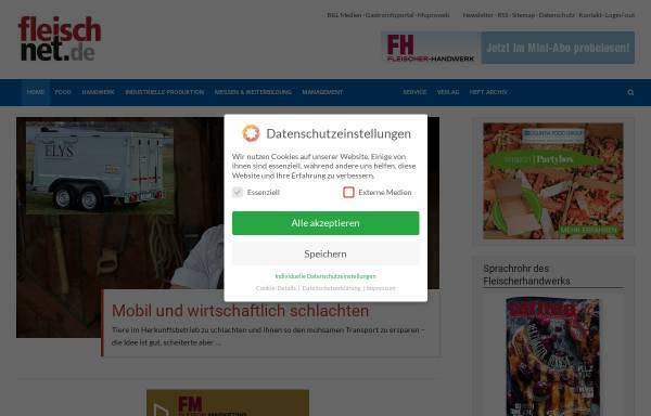 Vorschau von www.fleischnet.de, FleischNet