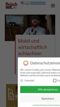 Vorschau der mobilen Webseite www.fleischnet.de, FleischNet