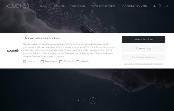 Vorschau von www.kludi.com, Kludi GmbH & Co. KG