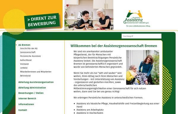 Vorschau von www.ag-bremen.de, Assistenzgenossenschaft Bremen