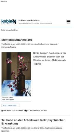 Vorschau der mobilen Webseite www.kobinet-nachrichten.org, Kobinet-Nachrichten