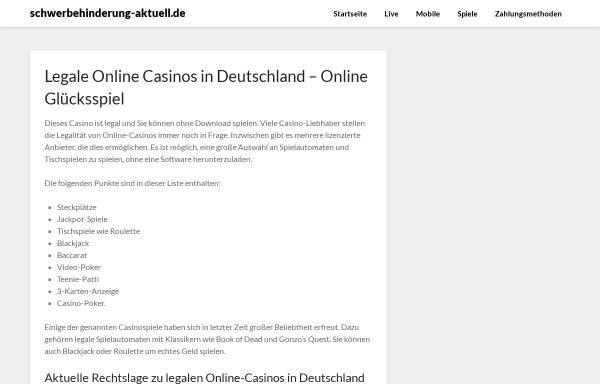 Vorschau von www.schwerbehinderung-aktuell.de, Schwerbehinderung-Aktuell.de