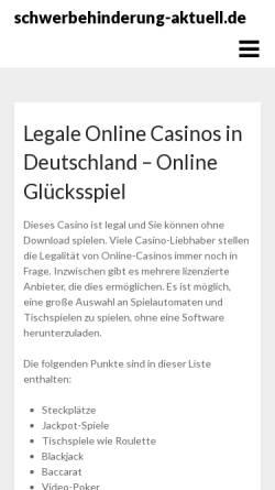Vorschau der mobilen Webseite www.schwerbehinderung-aktuell.de, Schwerbehinderung-Aktuell.de