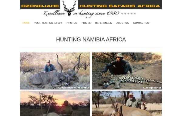 Vorschau von www.africanhuntingsafaris.com, Ozondjahe Hunting Safaris