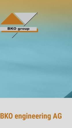 Vorschau der mobilen Webseite www.bkoag.de, BKO Engineering AG