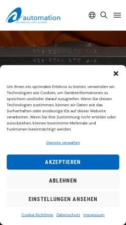 Vorschau der mobilen Webseite www.descam.de, Descam 3D Technologies GmbH