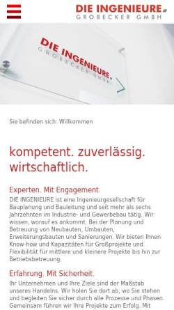 Vorschau der mobilen Webseite die-ingenieure.com, Grobecker GmbH