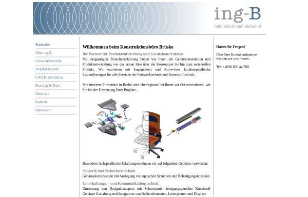Vorschau von www.ing-b.de, Ing-B - Joachim Brüske