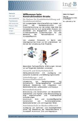 Vorschau der mobilen Webseite www.ing-b.de, Ing-B - Joachim Brüske
