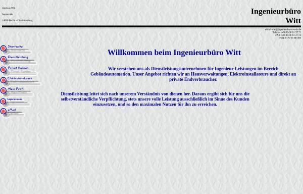 Vorschau von www.ingenieurbuero-witt.de, Ingenieurbüro Witt, Inh. Andreas Witt