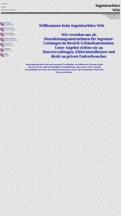 Vorschau der mobilen Webseite www.ingenieurbuero-witt.de, Ingenieurbüro Witt, Inh. Andreas Witt