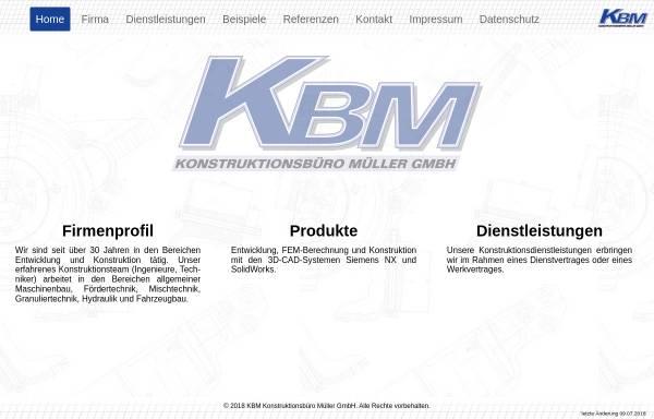 Vorschau von www.kbm-gmbh.de, KBM Konstruktionsbüro Müller GmbH