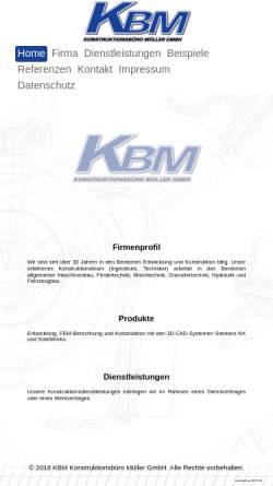 Vorschau der mobilen Webseite www.kbm-gmbh.de, KBM Konstruktionsbüro Müller GmbH
