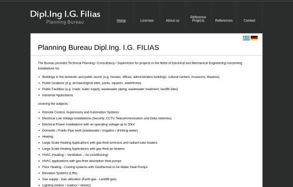 Vorschau von www.filias-engineering.com, Planungsbüro Dipl.-Ing. I.G.Filias