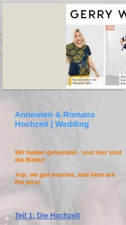 Vorschau der mobilen Webseite arwedding.tripod.com, Aadamy, Annewien und Roman