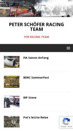 Vorschau der mobilen Webseite www.p-s-r.com, Peter Schöfer Racing