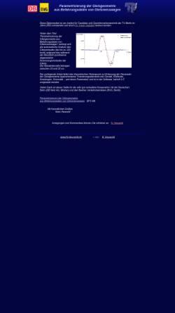 Vorschau der mobilen Webseite www.n-heuwold.de, Parametrisierung der Gleisgeometrie aus Befahrungsdaten von Gleismesswagen