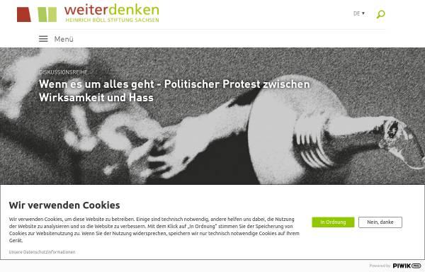 Vorschau von www.weiterdenken.de, Bildungswerk Weiterdenken e.V.