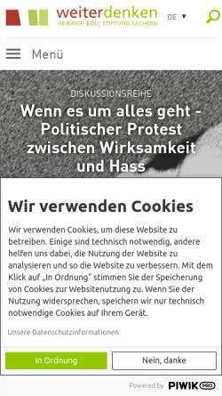 Vorschau der mobilen Webseite www.weiterdenken.de, Bildungswerk Weiterdenken e.V.