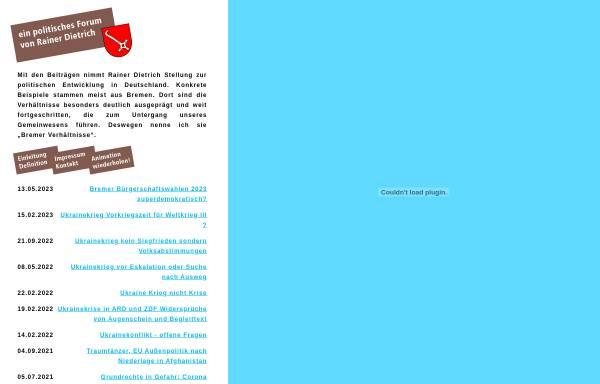 Vorschau von www.bremer-verhaeltnisse.de, Dietrich, Rainer