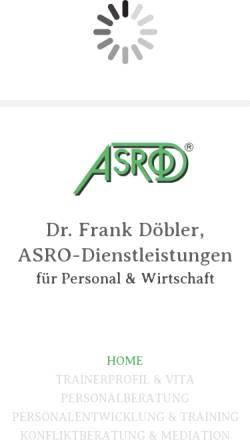 Vorschau der mobilen Webseite www.asrod.de, ASRO - Dr. Frank Döbler
