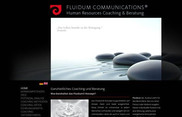 Vorschau von www.fluidum.de, Fluidum Communications, Inh. Ute-Andia Ratering