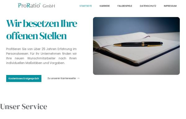 Vorschau von www.proratio-gmbh.de, ProRatio GmbH