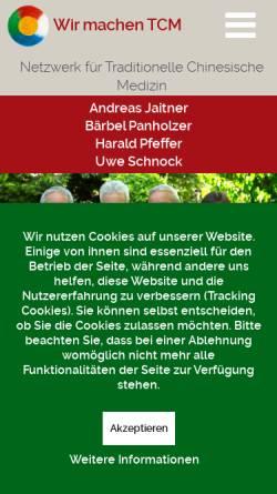 Vorschau der mobilen Webseite www.wir-machen-tcm.de, Arbeitskreis für Traditionelle Chinesische Medizin in Freiburg