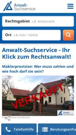 Vorschau der mobilen Webseite www.anwalt-consulting.de, Anwalt-Consulting Unternehmensberatung für Anwälte