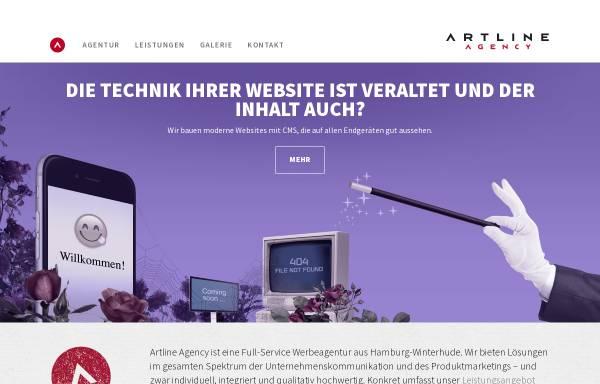 Vorschau von www.artline-agency.de, Artline Agency Werbeagentur GmbH