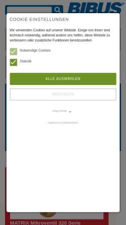 Vorschau der mobilen Webseite www.bibus.de, Bibus GmbH
