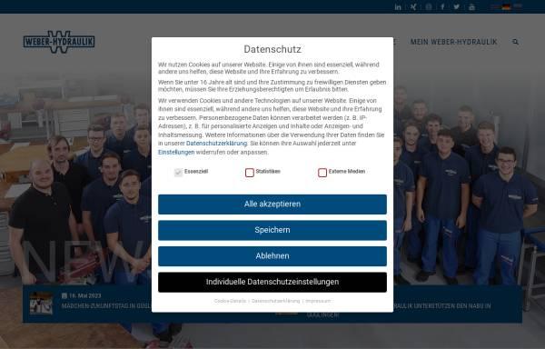Vorschau von www.weber-hydraulik.com, WEBER-HYDRAULIK ValveTech GmbH