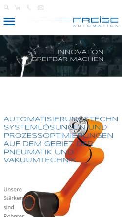 Vorschau der mobilen Webseite www.freise-automation.de, Freise GmbH Automation