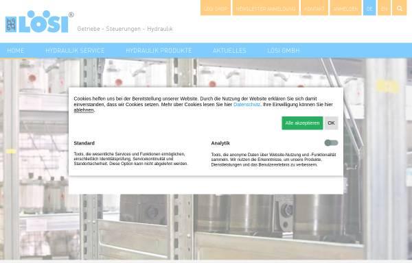 Vorschau von www.loesi.de, LöSi Hydraulik GmbH
