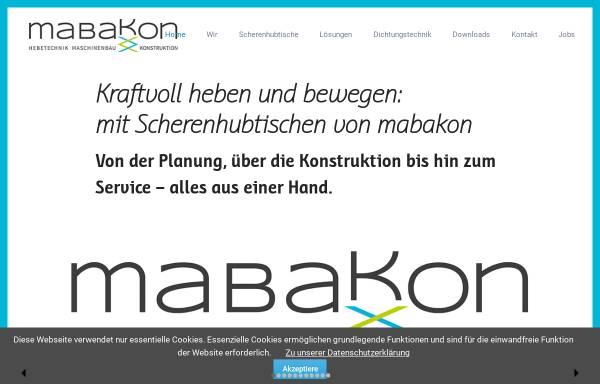 Vorschau von www.mabakon.de, Mabakon Crass+Wölfinger GmbH