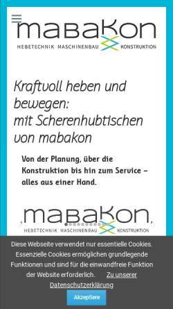 Vorschau der mobilen Webseite www.mabakon.de, Mabakon Crass+Wölfinger GmbH