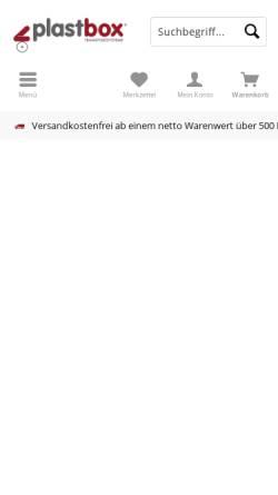 Vorschau der mobilen Webseite www.plastbox.de, Plastbox GmbH