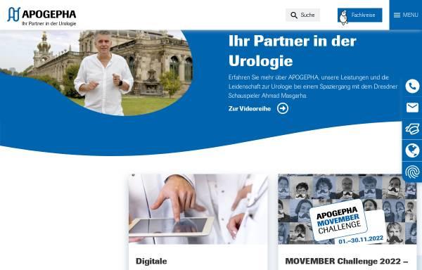 Vorschau von www.apogepha.de, Apogepha Arzneimittel GmbH