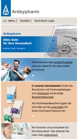 Vorschau der mobilen Webseite www.ardeypharm.de, Ardeypharm GmbH