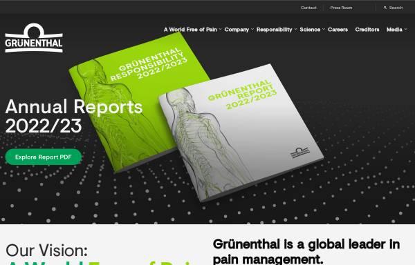 Vorschau von www.grunenthal.com, Grünenthal GmbH