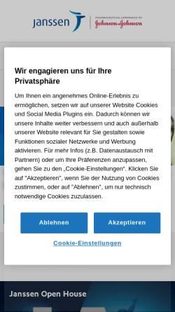 Vorschau der mobilen Webseite janssen-deutschland.de, Janssen-Cilag GmbH