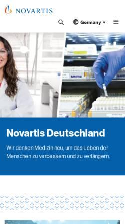 Vorschau der mobilen Webseite www.novartis.de, Novartis Pharma Deutschland GmbH