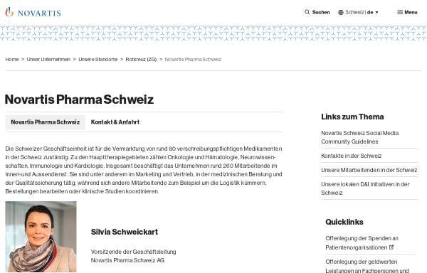 Vorschau von www.novartispharma.ch, Novartis Pharma Schweiz AG
