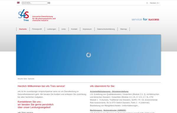 Vorschau von www.s4s-tries.de, S4S Tries Service GmbH & Co. KG