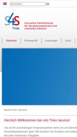 Vorschau der mobilen Webseite www.s4s-tries.de, S4S Tries Service GmbH & Co. KG