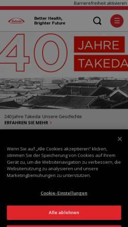 Vorschau der mobilen Webseite www.takeda.de, Takeda Pharma Vertrieb GmbH & Co. KG