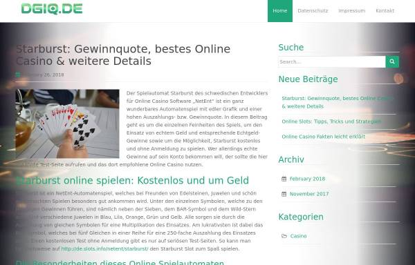Vorschau von www.dgiq.de, Deutsche Gesellschaft für Informations- und Datenqualität e.V.